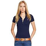 У стилі Ральф лорен поло жіноча поло жіноча футболка бавовна ралф, фото 10