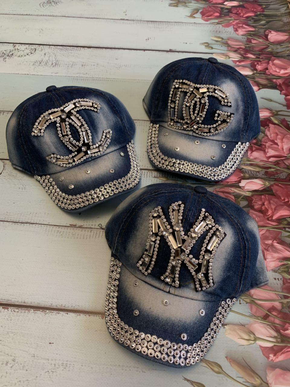 Дитяча літня джинсова кепка для дівчинки DG р. 50-52