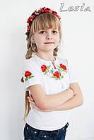 Дитяча вишиванка Маки червоні