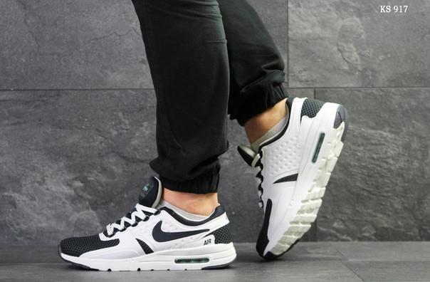 Мужские кроссовки Nike Zero (темно-синие с белым)
