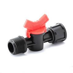Кран шаровый Presto-PS с наружной и внутренней резьбой 3/4 на 1/2 дюйма (MF-013412)