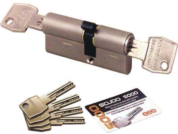 Цилиндр AGB SCUDO 5000 PS 54 мм (27x27) ключ-ключ мат.хром