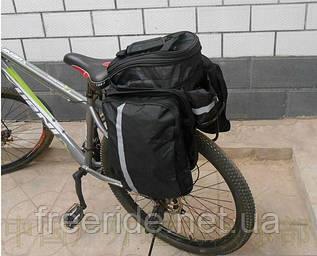 Велосумка-штаны трансформер на багажник (переносная)