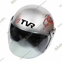 Мото шлем TVR Серый Helmet , ¾, Котелок, Круизер, Чоппер, полулицевик