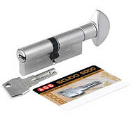 Цилиндр AGB SCUDO 5000 PS 60 мм (T33x27) ручка-ключ мат.хром, фото 1