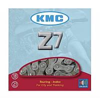 """Велосипедная цепь КМС (модель Z7 (Z50) размер 1/2""""х3/32"""" ,114 звеньев, хромированная с замком)"""