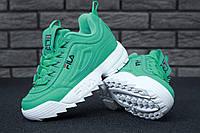 Женские кроссовки в стиле Fila Disruptor 2 Green, фото 1