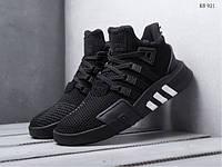 Мужские кроссовки Adidas EQT Bask ADV (черные) KS 921