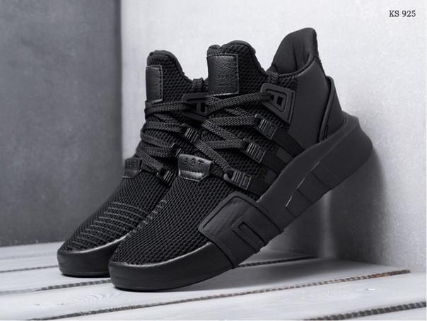 Мужские кроссовки Adidas EQT Bask ADV (черные)