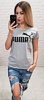 Футболка женская в стиле PUMA серая Турция