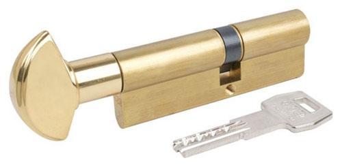Цилиндр AGB SCUDO 5000 PS 80 мм (T35x45) ручка-ключ латунь