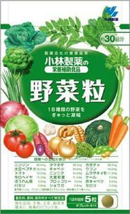 Японские Kobayashi сублимированные овощи 150 табл на 30 дней