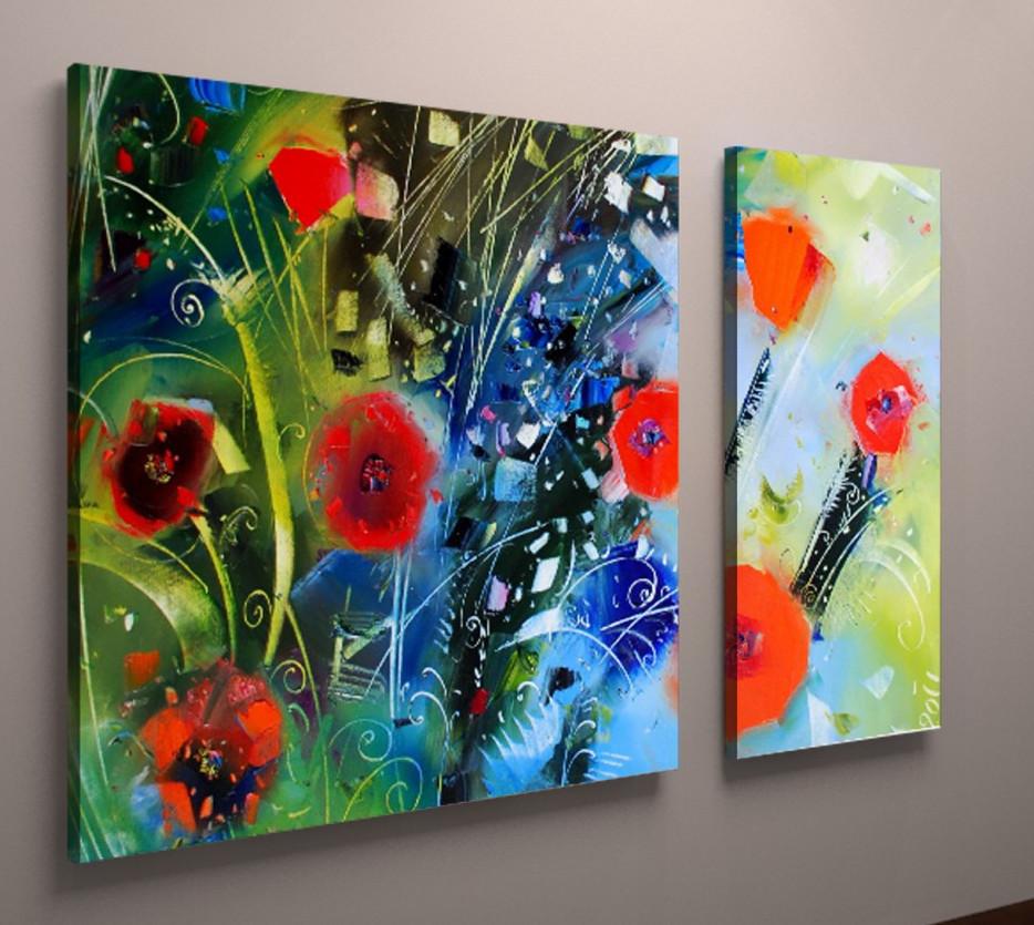 Модульна картина польові квіти 100х60