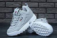 Женские кроссовки в стиле Fila Disruptor 2 серые , фото 1