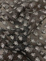 Сетка серебряным напылением листья, фото 1