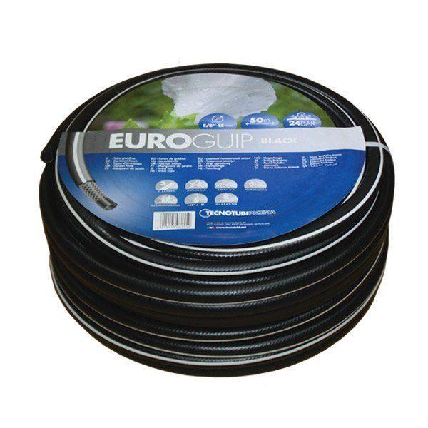 Шланг садовый Tecnotubi Euro Guip Black для полива диаметр 1/2 дюйма, длина 50 м (EGB 1/2 50)