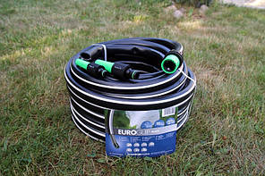 Шланг садовый Tecnotubi Euro Guip Black для полива диаметр 3/4 дюйма, длина 25 м (EGB 3/4 25), фото 3
