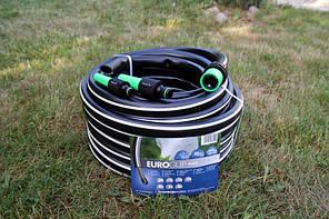 Шланг садовый Tecnotubi Euro Guip Black для полива диаметр 1 дюйм, длина 25 м (EGB 1 25), фото 3