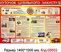 Стенд куточок цивільної оборони Код-05033