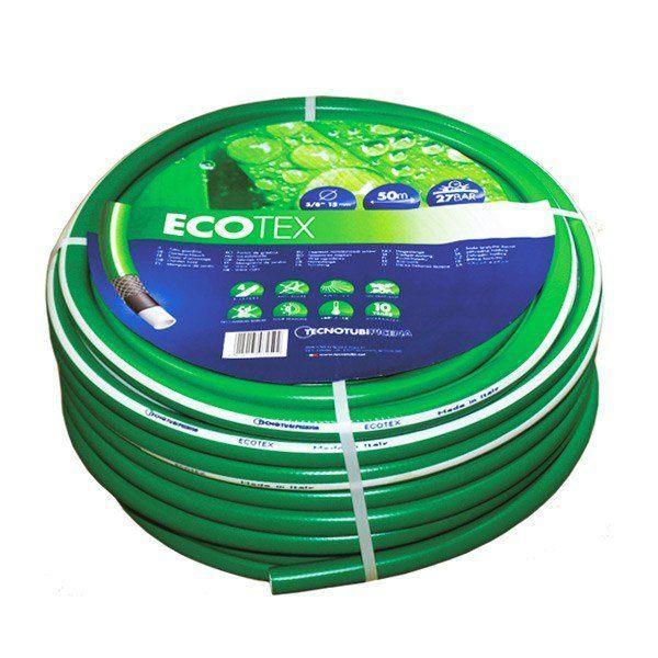 Шланг садовый Tecnotubi EcoTex для полива диаметр 3/4 дюйма, длина 15 м (ET 3/4 15)