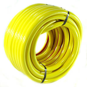 Шланг поливочный Evci Plastik Радуга (Salute) желтая диаметр 3/4 дюйма, длина 30 м (SN 3/4 30), фото 2