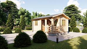 Дачный дом 6х4 м из бруса в Украине. Строительство, монтаж. Кредитование строительства деревянных домов