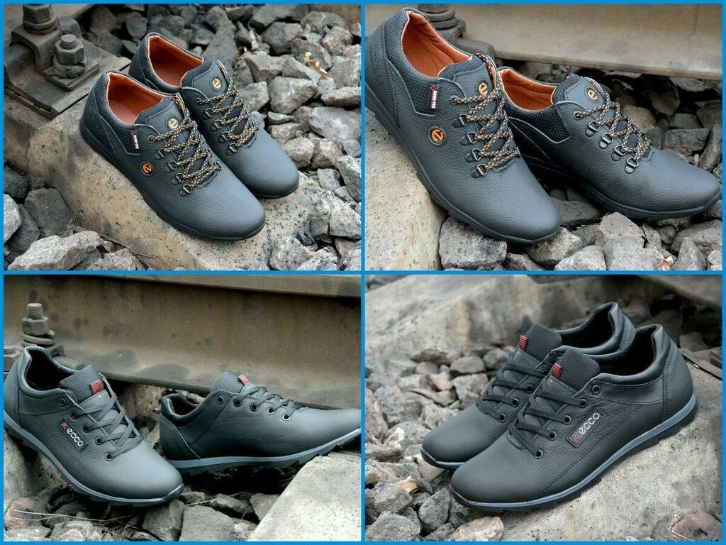 bc7d6de65 Мужские кожаные туфли кроссовки Экко ECCO biom обувь для повседневной носки  40-45р - T100Shop