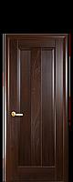 Дверное полотно Премьера Каштан глухое с гравировкой