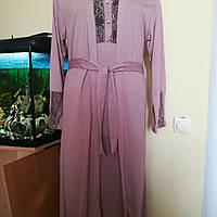Шикарный халат и ночная сорочка кофейного цвета, ТМ Ahu Lingerie