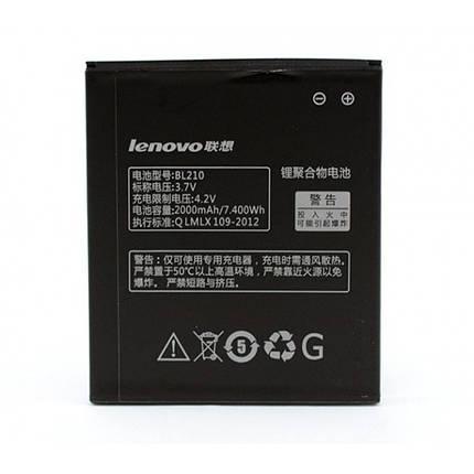 Аккумулятор Lenovo BL210, 2000 mAh (A656, A658, A750, A766, A770, S650, S658, S820) origin батарея Леново, фото 2