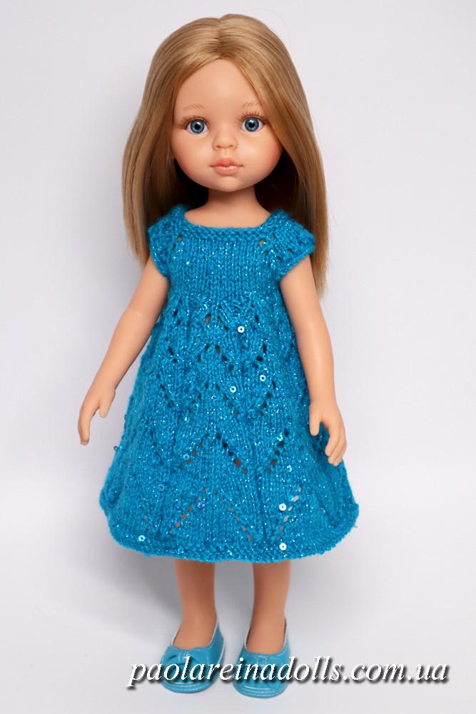 Нарядное платье с паетками для кукол Паола Рейна