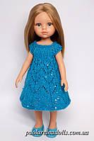 Нарядное платье с паетками для кукол Паола Рейна, фото 1
