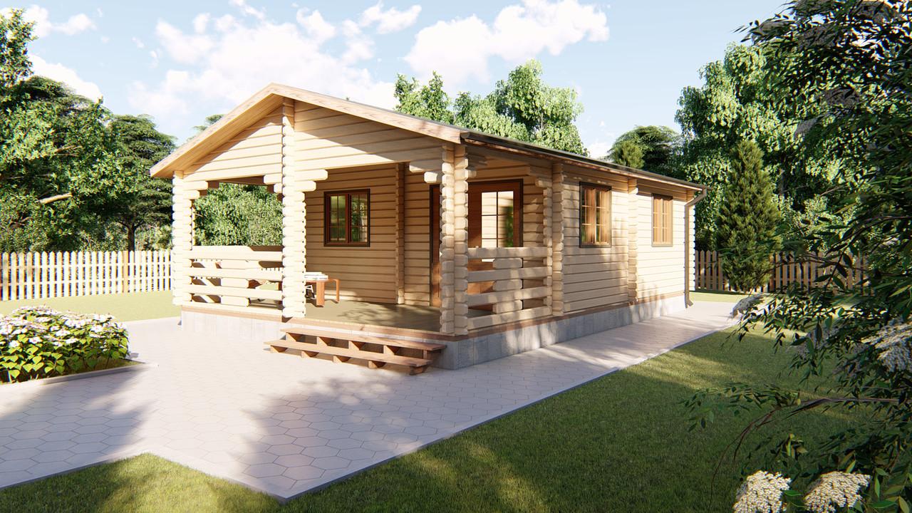 Дачный дом 9х6 м из бруса в Украине. Строительство домов из дерева. Скидка на домокомплекты на 2020 год