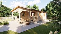 Дачный дом 9х6 м из бруса в Украине. Строительство домов из дерева. Скидка на домокомплекты на 2020 год, фото 1