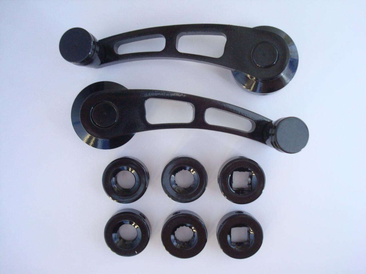 Универсальные автомобильные ручки стеклоподъёмников чёрные MG 3006 металл