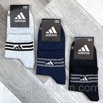 Шкарпетки чоловічі демісезонні х/б спортивні Adidas, Athletic Sports, середні, асорті, 12557