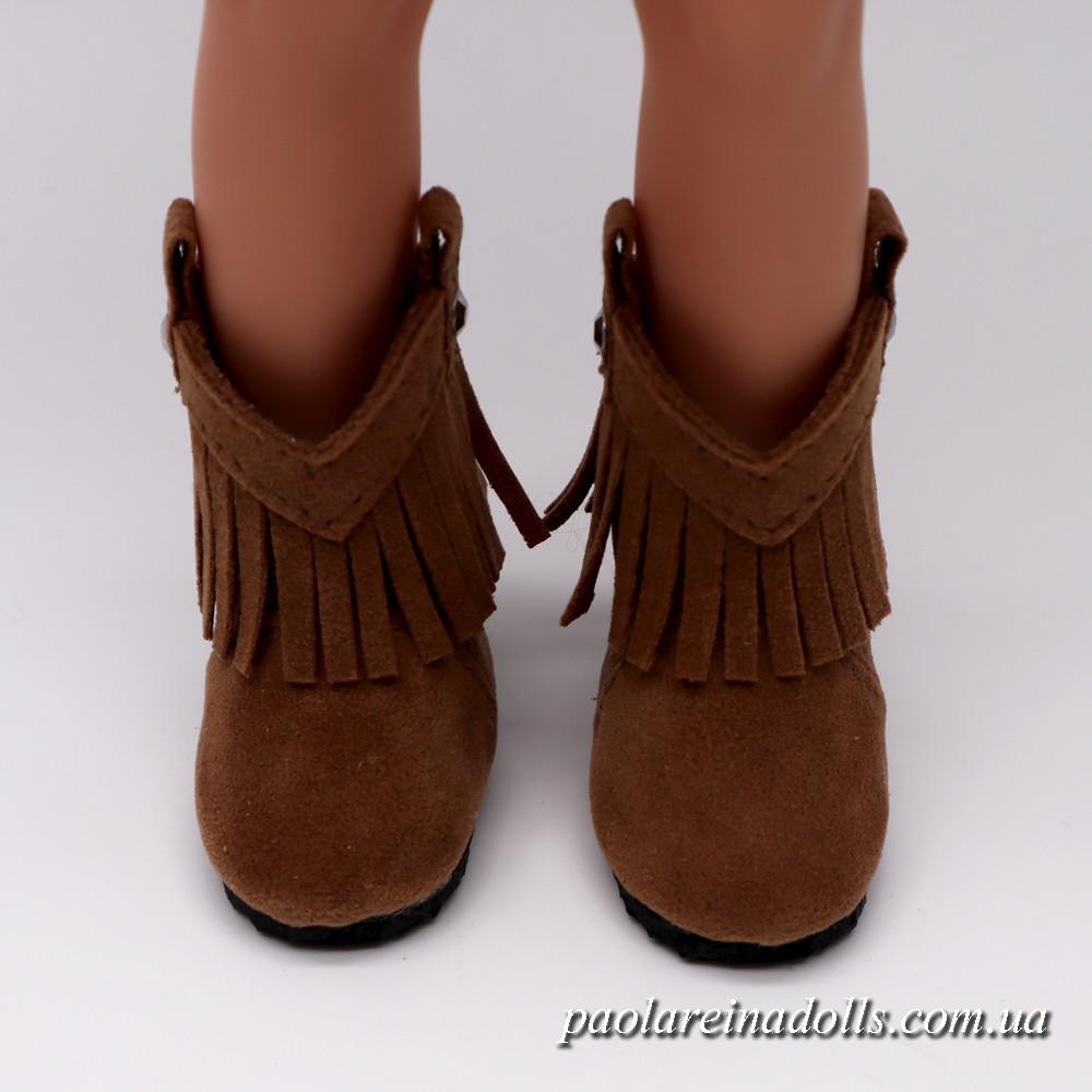 Сапожки ковбойки бежевые для кукол Паола Рейна
