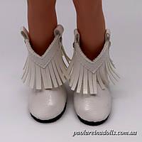Сапожки ковбойки белые для кукол Паола Рейна