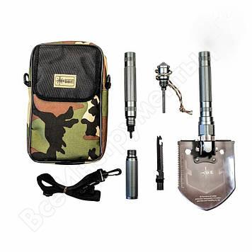 Лопата, лопатка, туристична, складна, 15в1, рибальське, мисливська, автомобільна, многофункцыональная