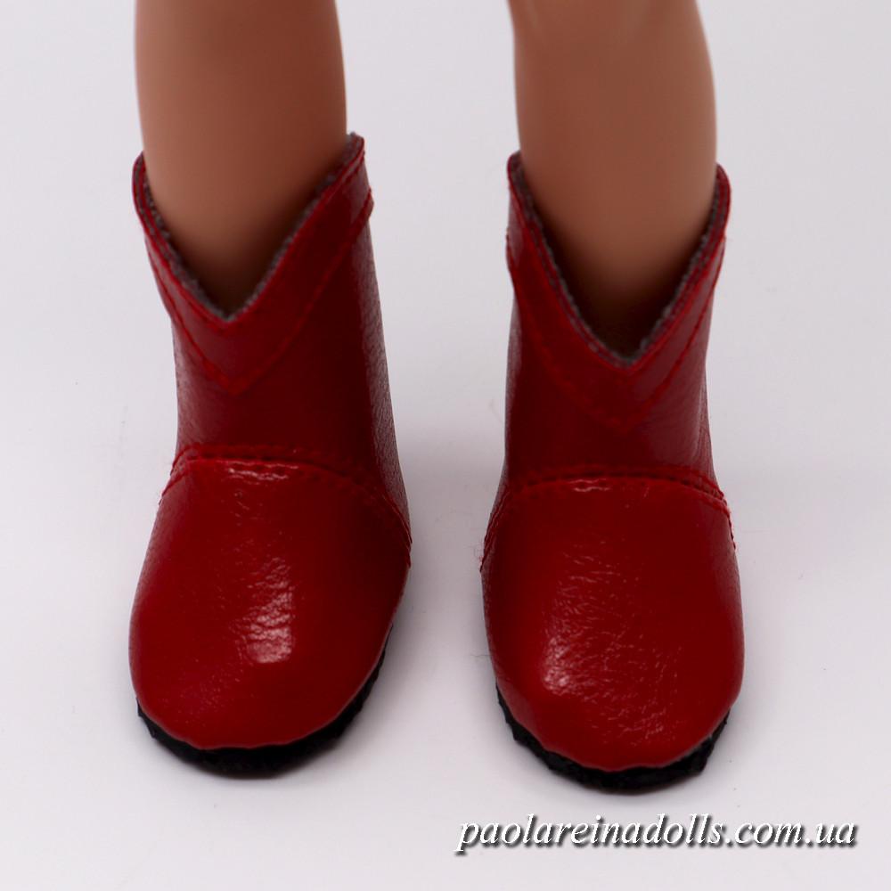 Сапожки красные для кукол Паола Рейна