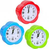 """От 2 шт. Настольные часы - будильник """"Ромашка"""" JX807 10*10*4 см купить оптом в интернет магазине От 2 шт."""