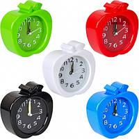 """От 2 шт. Настольные часы - будильник Х2-18/808 """"Яблоко"""" 11*11*4 см купить оптом в интернет магазине От 2 шт."""