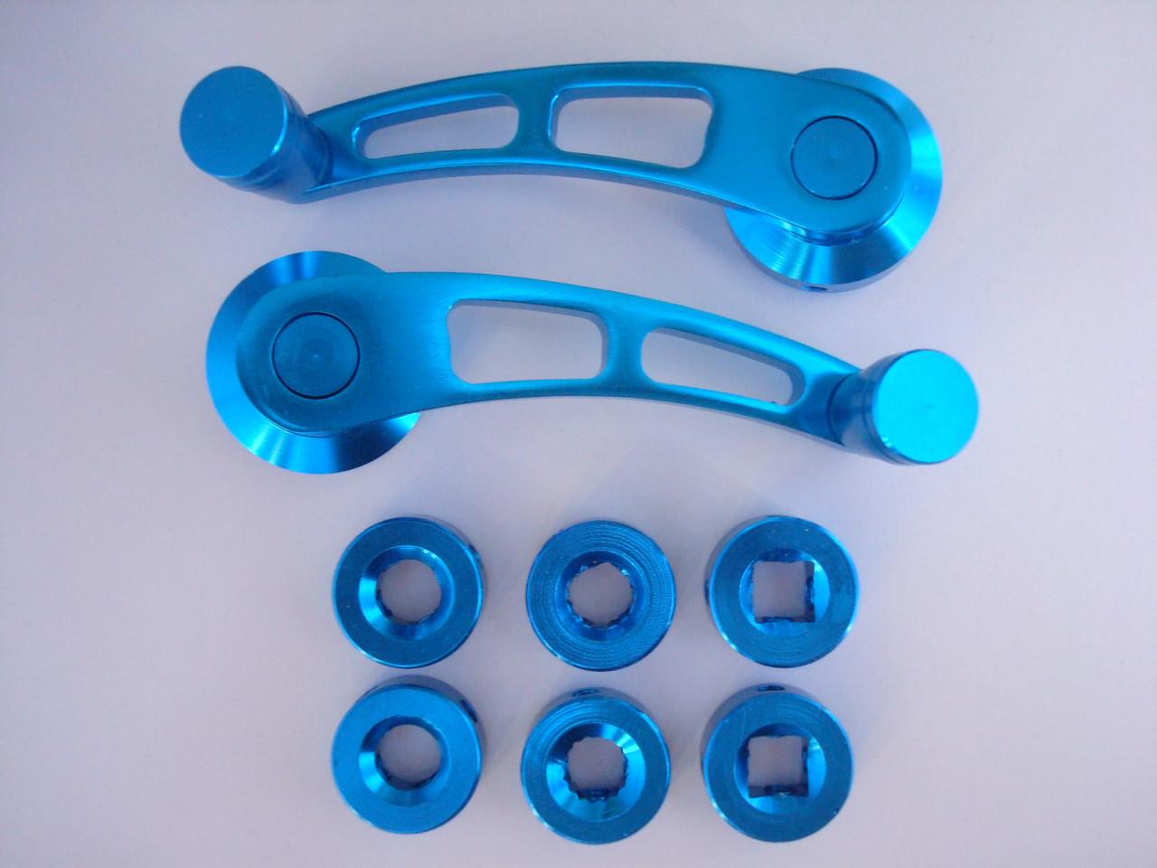 Універсальні автомобільні ручки склопідйомників сині MG 3006 метал