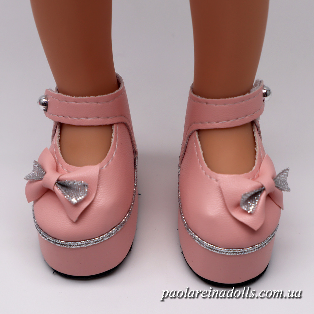 Туфли на платформе розовые для кукол Паола Рейна