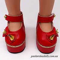 Туфли на платформе красные для кукол Паола Рейна