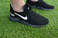Мужские кроссовки Nike сетка черный, копия, фото 1