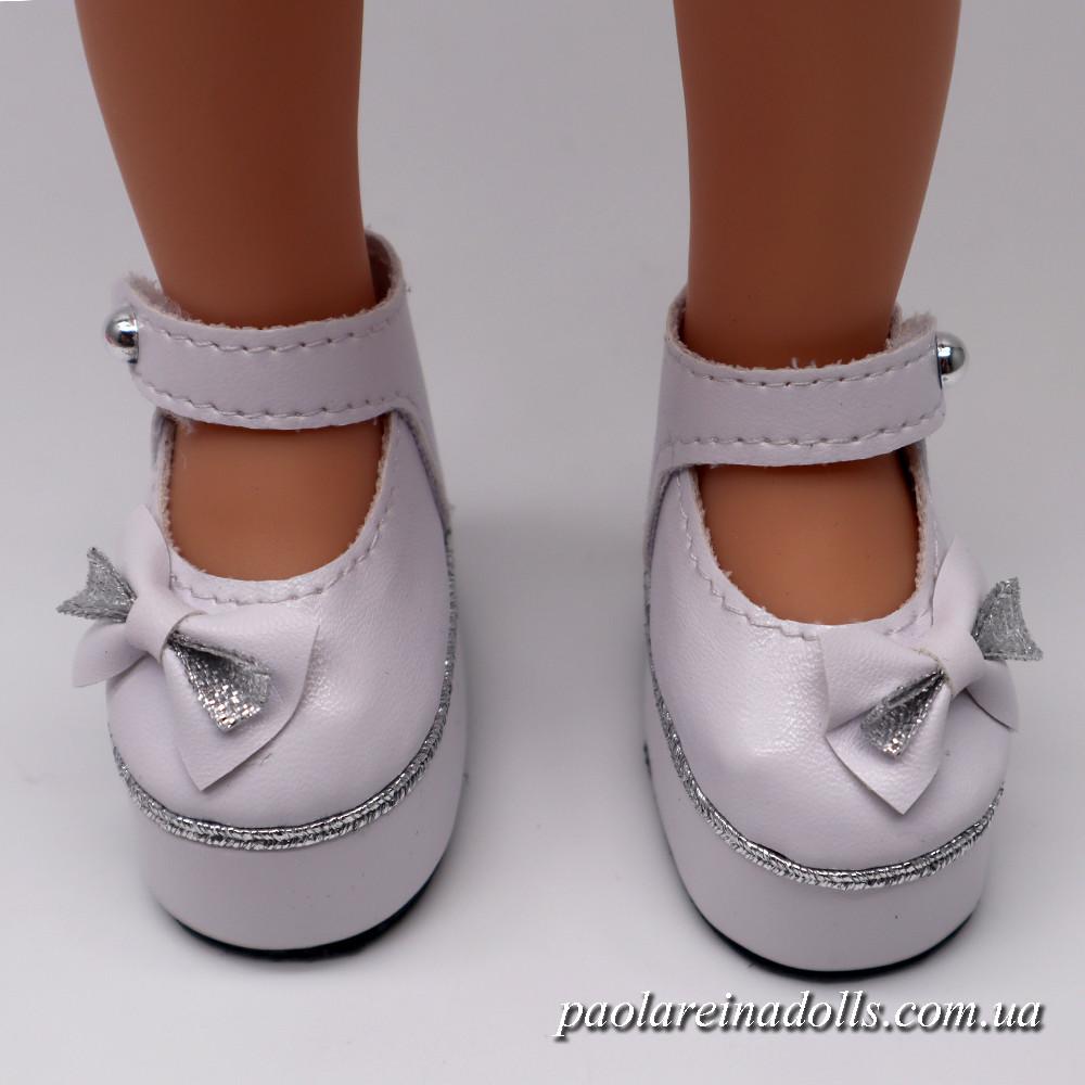 Туфли на платформе белые для кукол Паола Рейна
