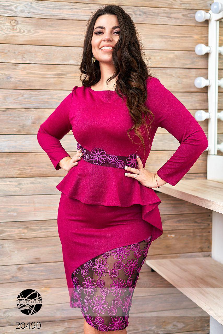 08aa4d26695 Платье Миди с Кружевными Вставками — в Категории