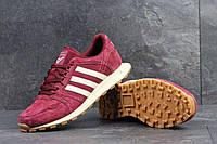 Кроссовки мужские Adidas Neo бордовые 4306