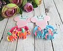 Детские резиночки для волос Единороги 10 пар/уп., фото 2